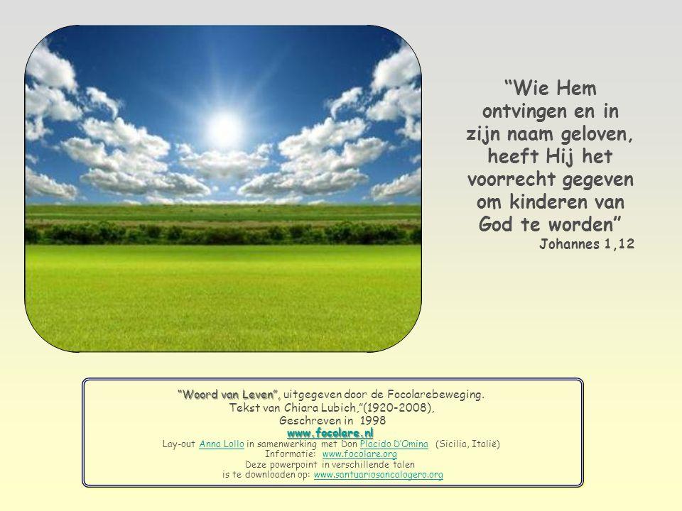 Dan zal de wederzijdse liefde zoals die er is tussen Jezus, de Vader en de heilige Geest, ook de relatie worden tussen ons en de Vader.