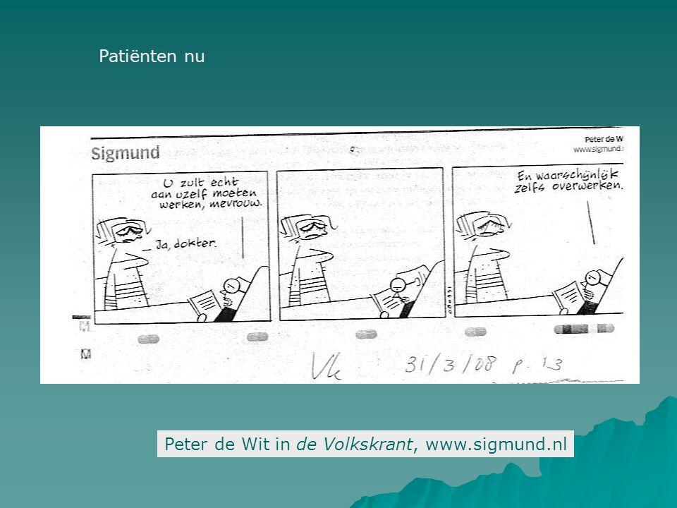 Peter de Wit in de Volkskrant, www.sigmund.nl Patiënten nu