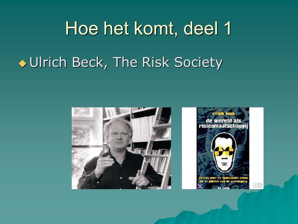 Hoe het komt, deel 1  Ulrich Beck, The Risk Society
