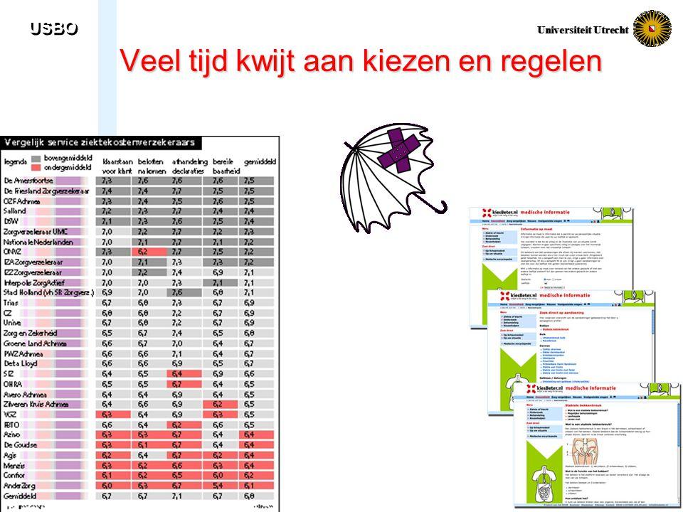USBO Universiteit Utrecht Veel tijd kwijt aan kiezen en regelen