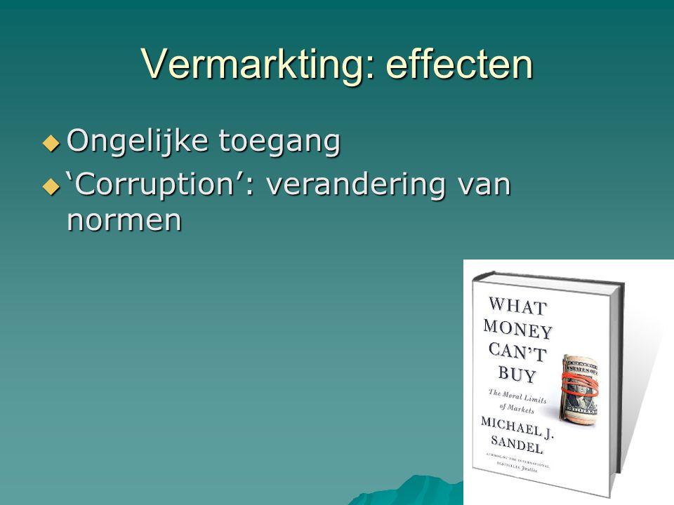 Ongelijkheid: Nederland  Voor 2006 Robin Hood zorg afgekeurd  Na 2006 Kennemer Gasthuis tot de orde geroepen