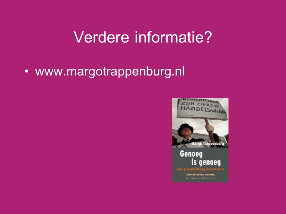 Verdere informatie www.margotrappenburg.nl