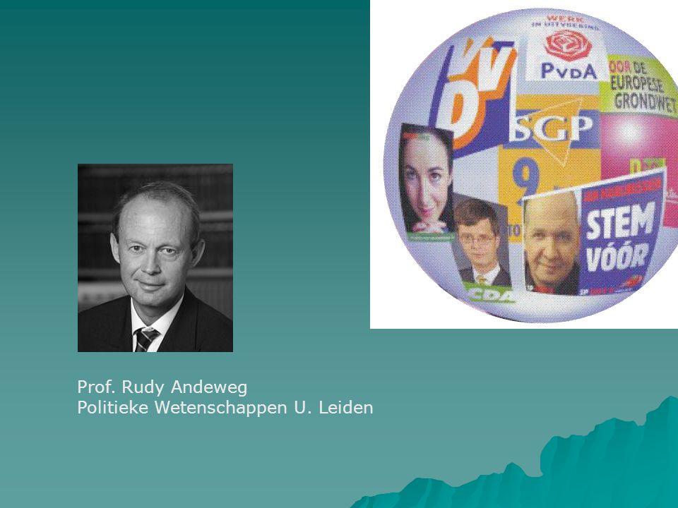 Prof. Rudy Andeweg Politieke Wetenschappen U. Leiden