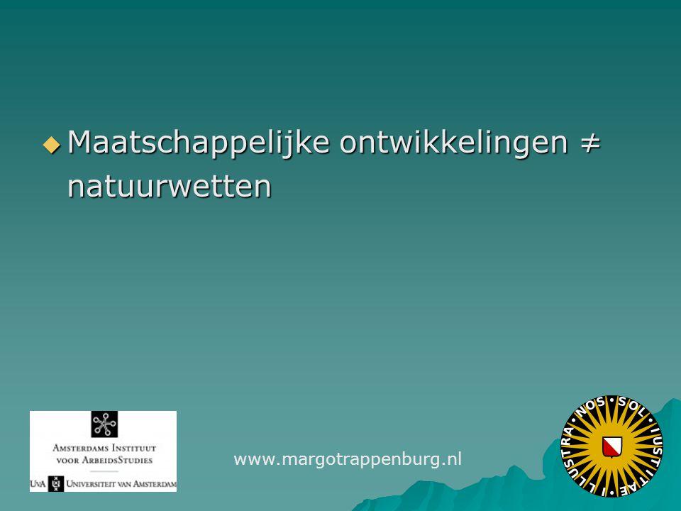  Maatschappelijke ontwikkelingen ≠ natuurwetten www.margotrappenburg.nl