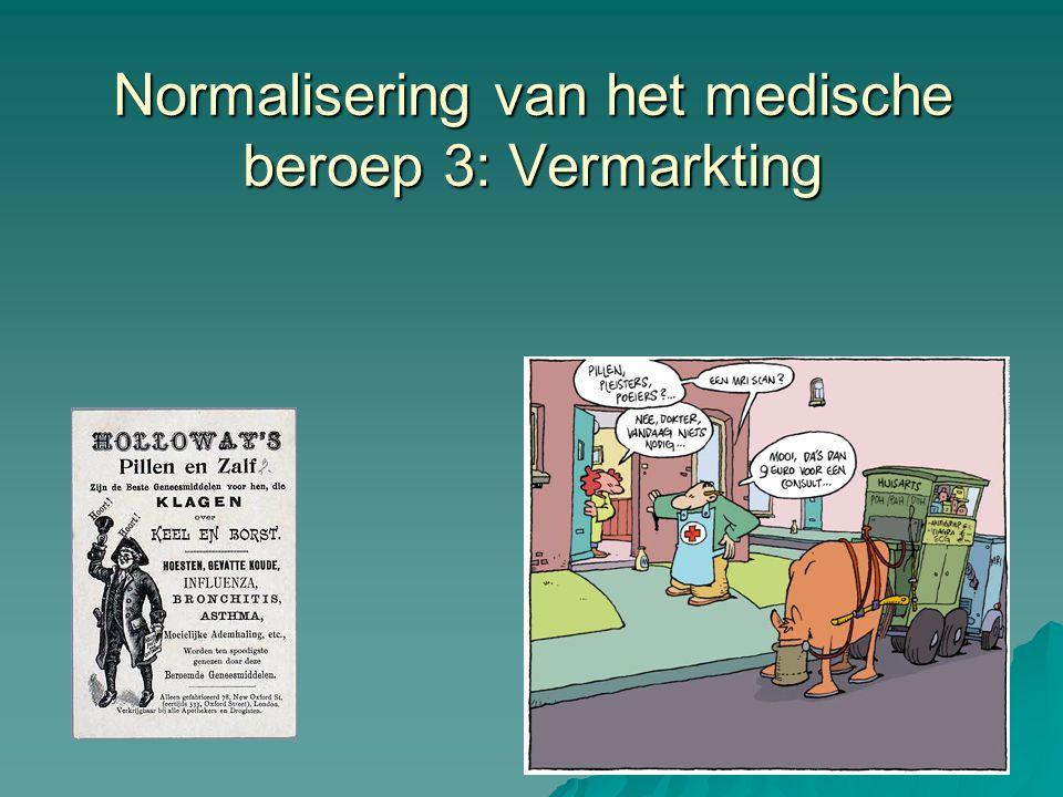 Normalisering van het medische beroep 3: Vermarkting