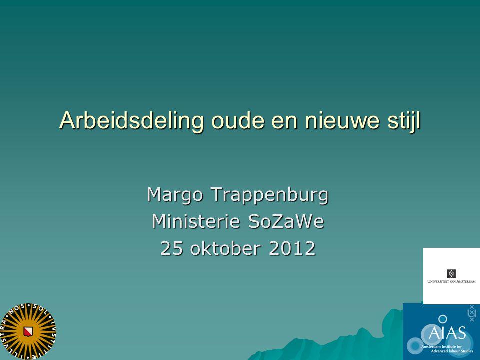 Arbeidsdeling oude en nieuwe stijl Margo Trappenburg Ministerie SoZaWe 25 oktober 2012