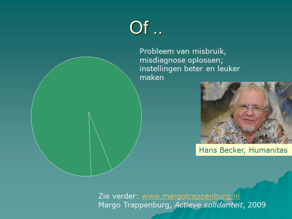 Of.. Probleem van misbruik, misdiagnose oplossen; instellingen beter en leuker maken Hans Becker, Humanitas Zie verder: www.margotrappenburg.nlwww.mar