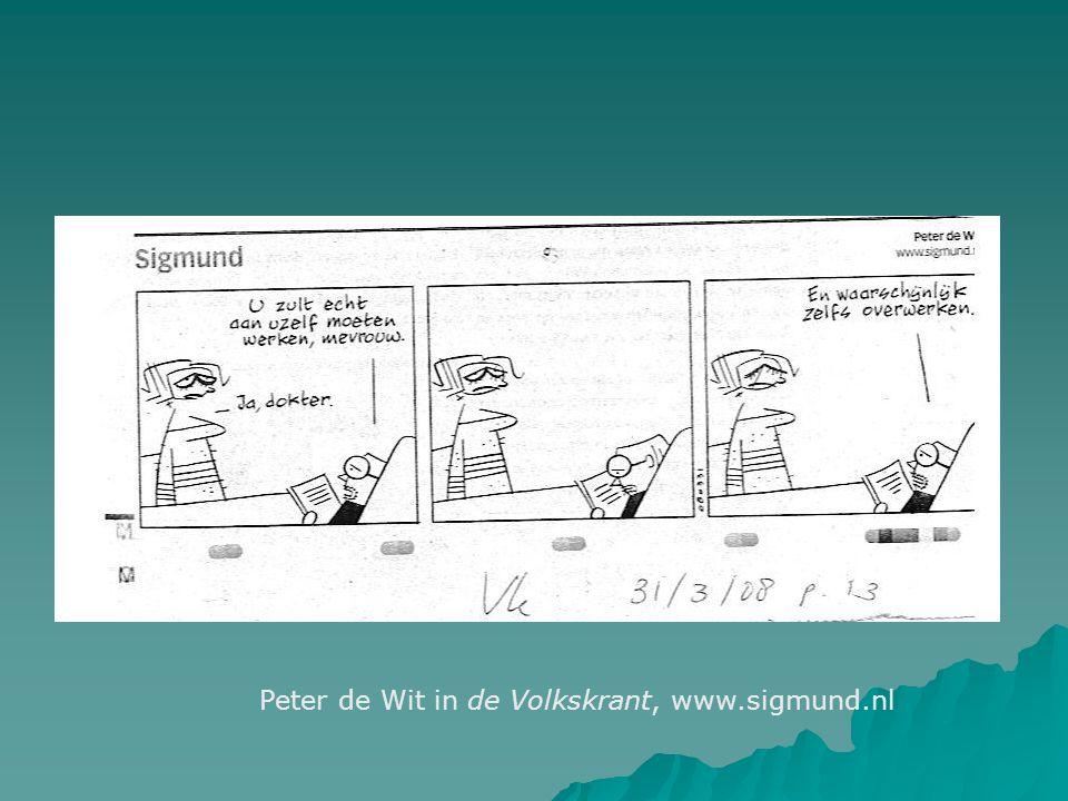 Peter de Wit in de Volkskrant, www.sigmund.nl