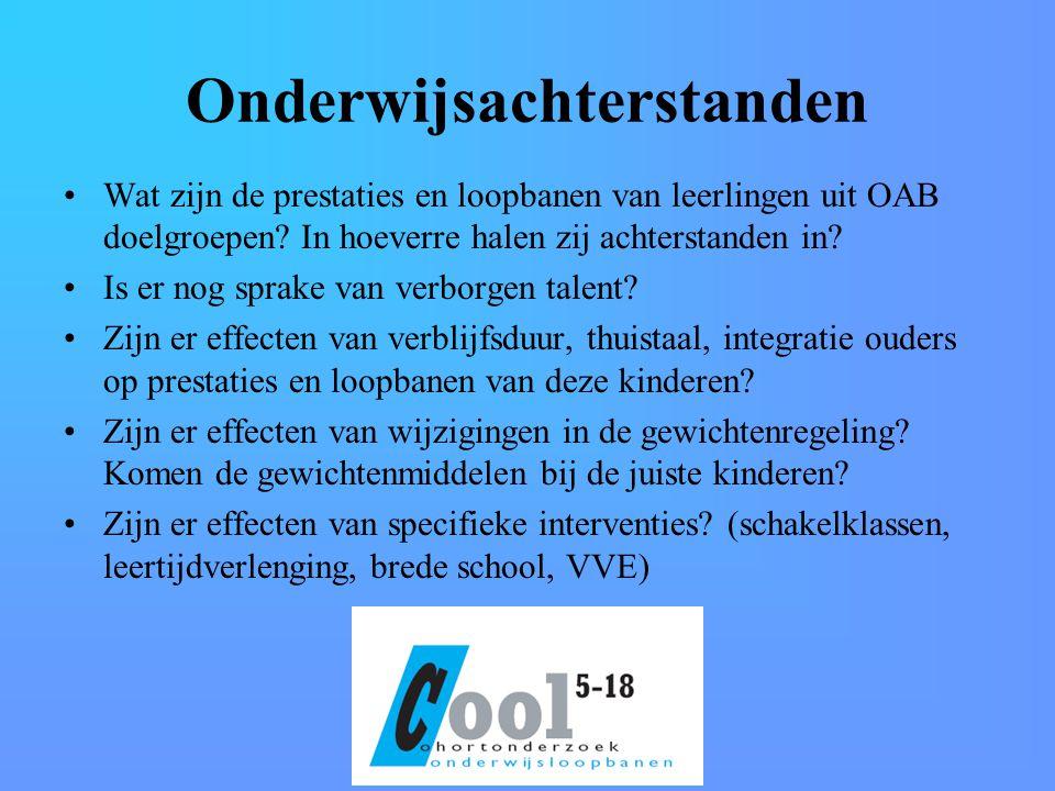 Onderwijsachterstanden Wat zijn de prestaties en loopbanen van leerlingen uit OAB doelgroepen.