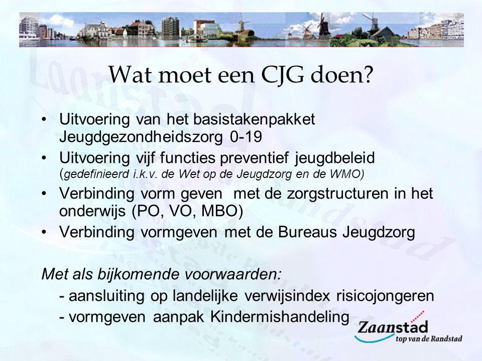 Wat moet een CJG doen.