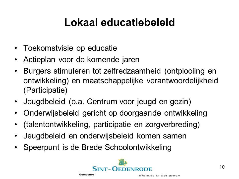 Lokaal educatiebeleid Toekomstvisie op educatie Actieplan voor de komende jaren Burgers stimuleren tot zelfredzaamheid (ontplooiing en ontwikkeling) e