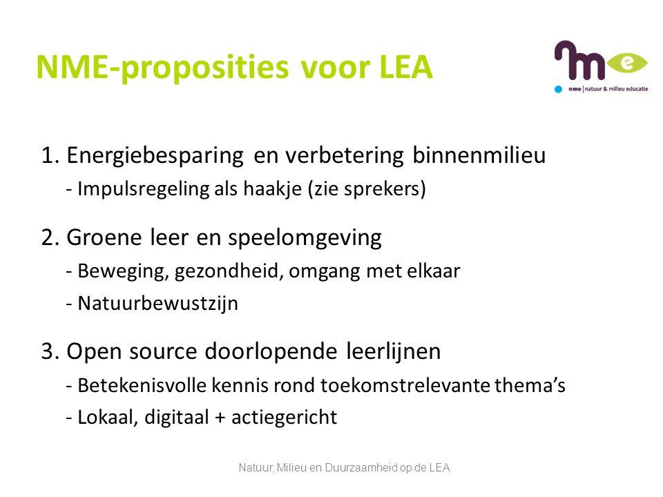 NME-proposities voor LEA 1.