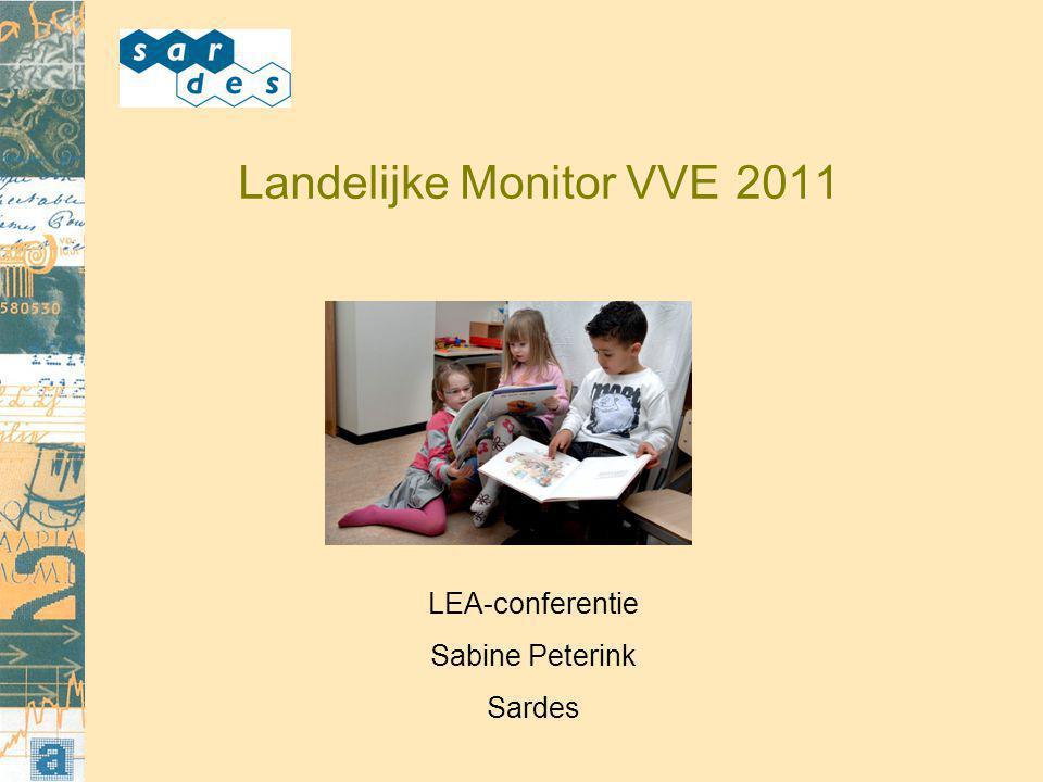 Landelijke Monitor VVE 2011 LEA-conferentie Sabine Peterink Sardes