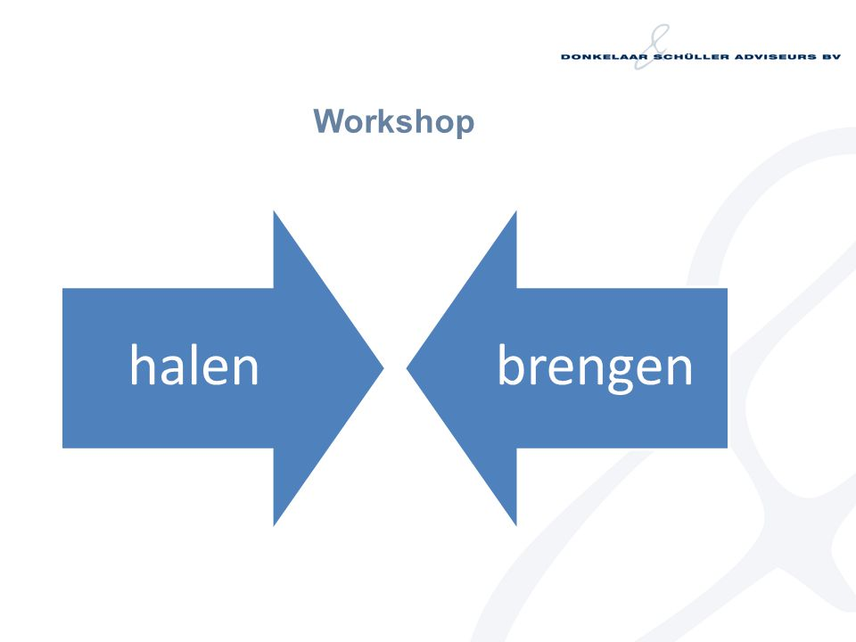 Workshop halenbrengen