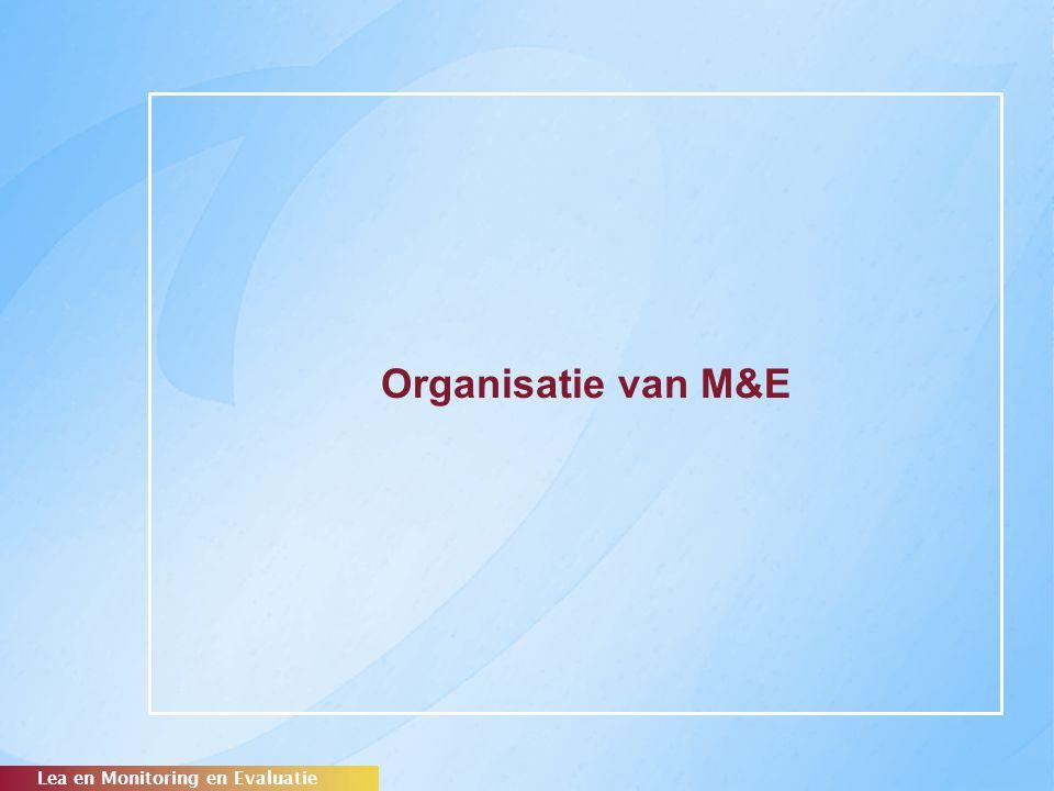 Organisatie van M&E Lea en Monitoring en Evaluatie
