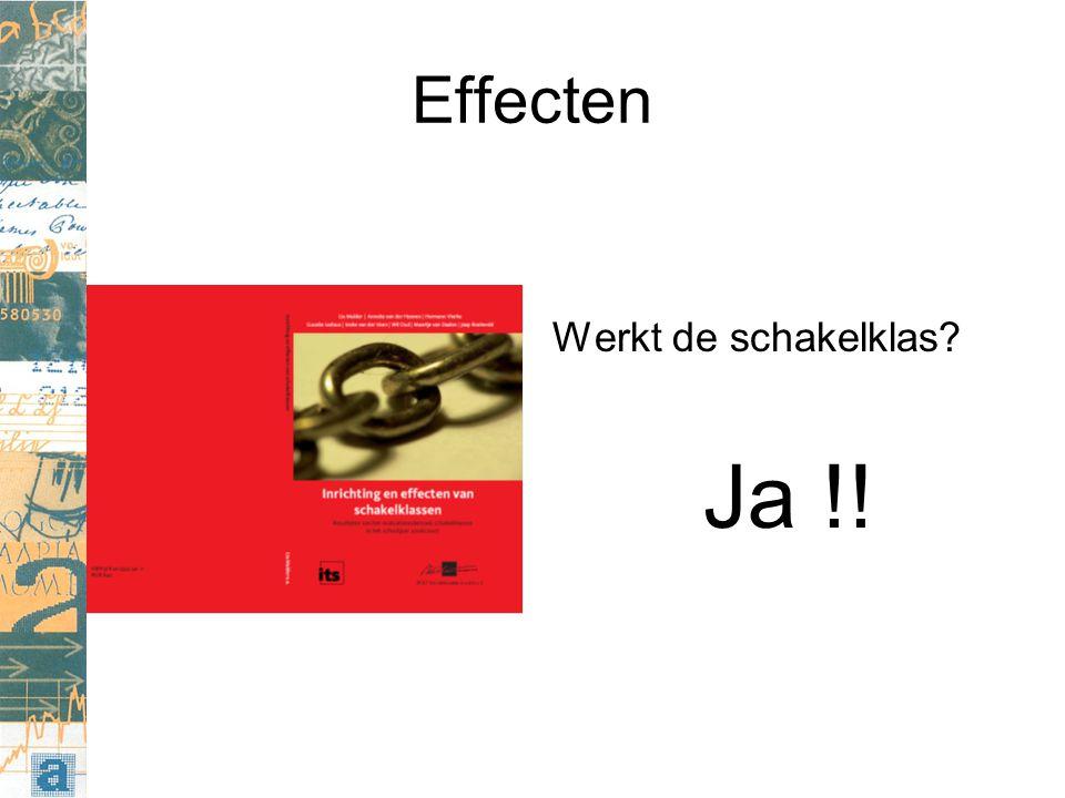 Effecten Werkt de schakelklas Ja !!