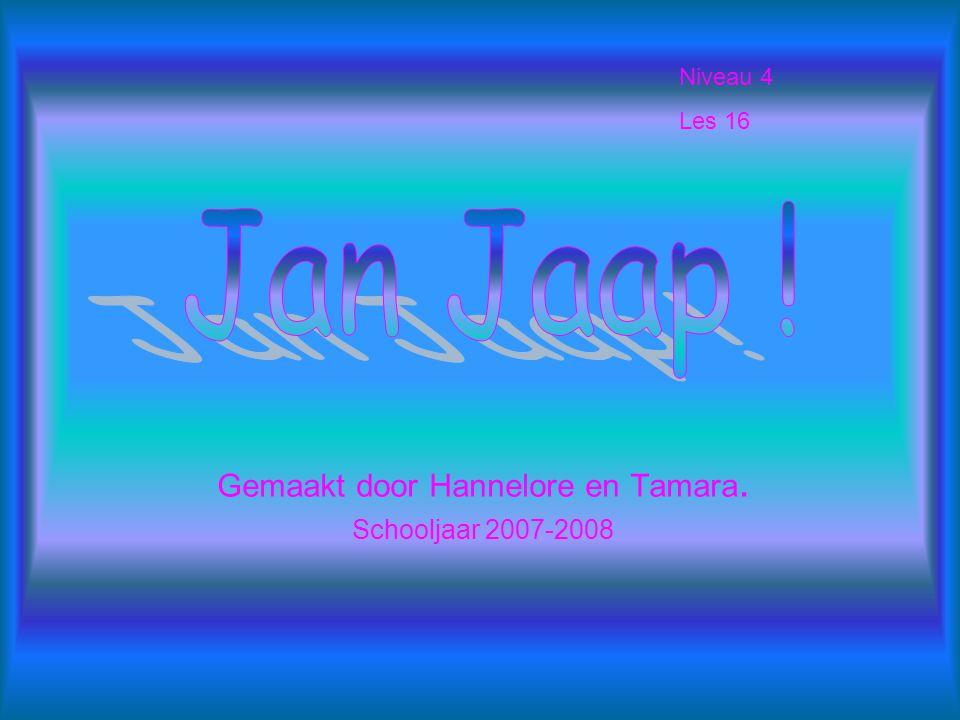 Gemaakt door Hannelore en Tamara. Schooljaar 2007-2008 Niveau 4 Les 16