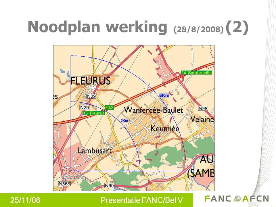 25/11/08 Presentatie FANC/Bel V Noodplan werking (28/8/2008) (2)