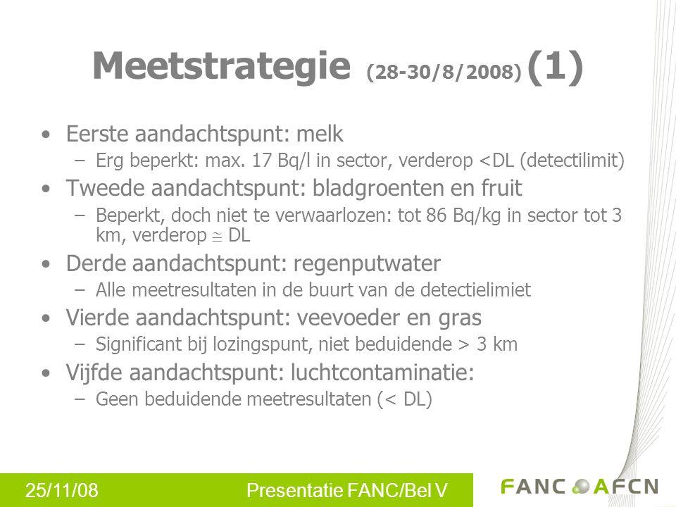 25/11/08 Presentatie FANC/Bel V Eerste aandachtspunt: melk –Erg beperkt: max.