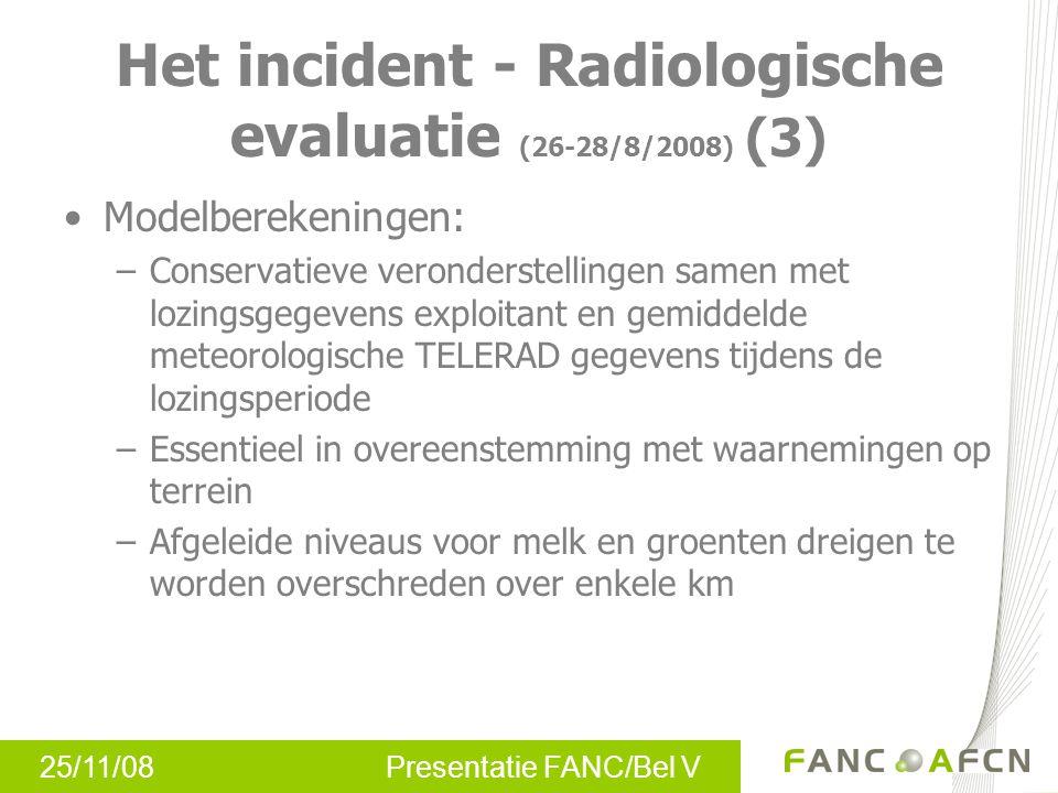 25/11/08 Presentatie FANC/Bel V Dank u