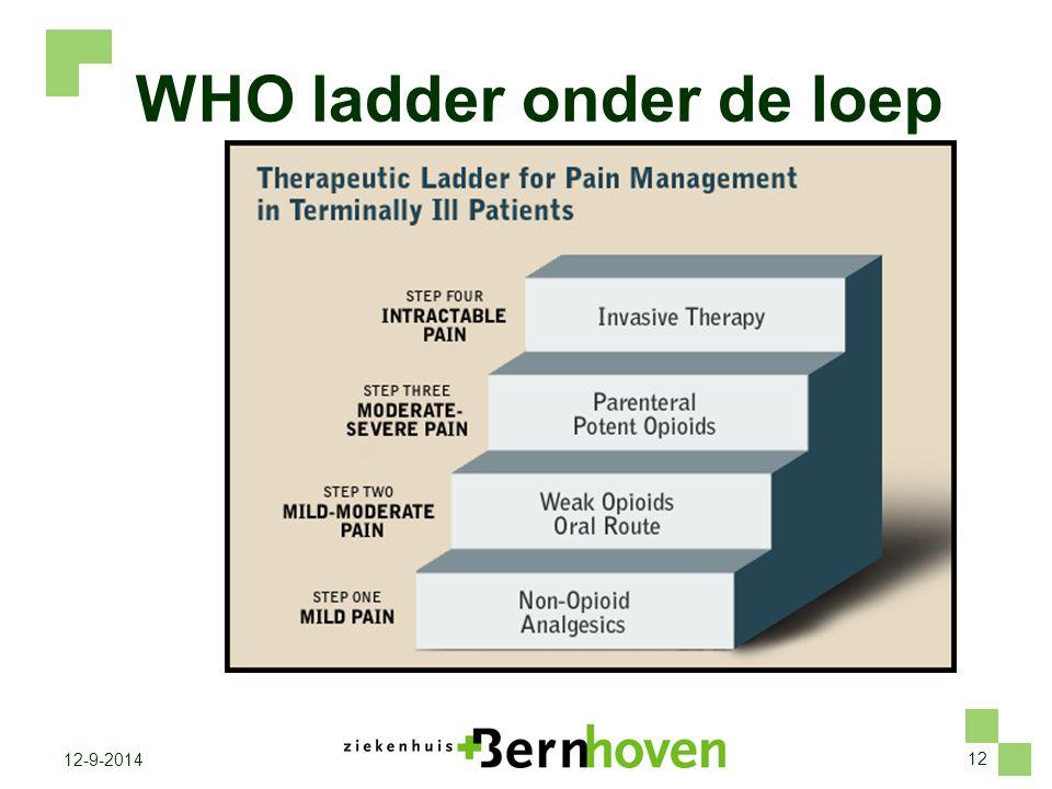 12 12-9-2014 WHO ladder onder de loep