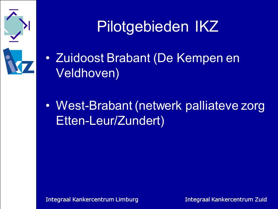 Integraal Kankercentrum Limburg Integraal Kankercentrum Zuid Acties Minisymposia Acties gericht op profilering van de vrijwilliger  Badges  Richtlijn zorgdossier  Richtlijn communicatie huisartsen Brochure met ervaringsverhalen Publicaties Publieksactie i.s.m.