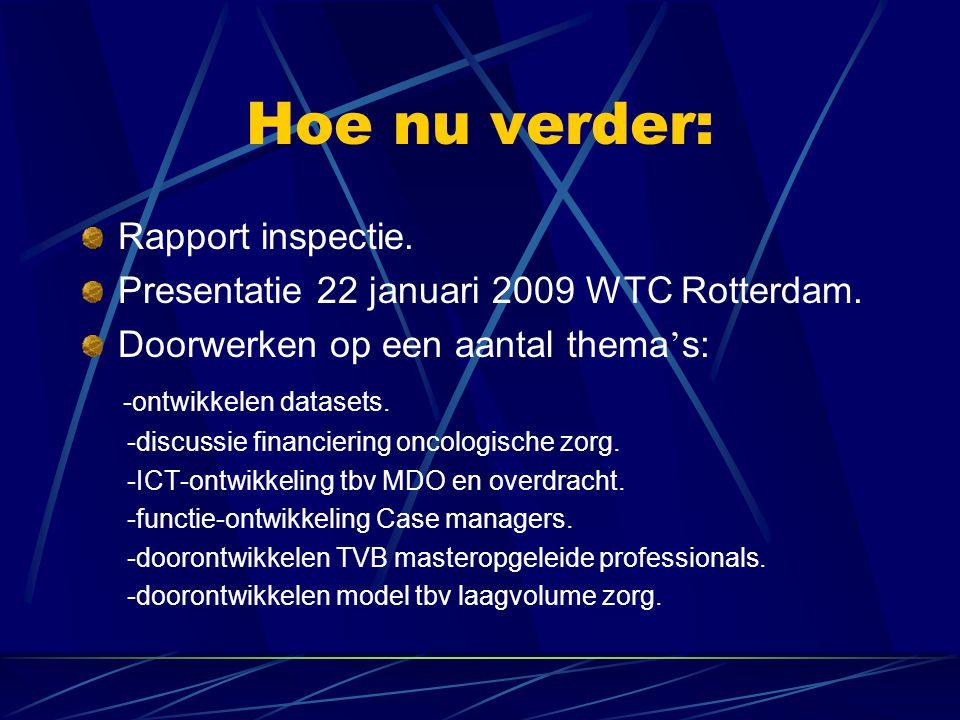 Hoe nu verder: Rapport inspectie. Presentatie 22 januari 2009 WTC Rotterdam.