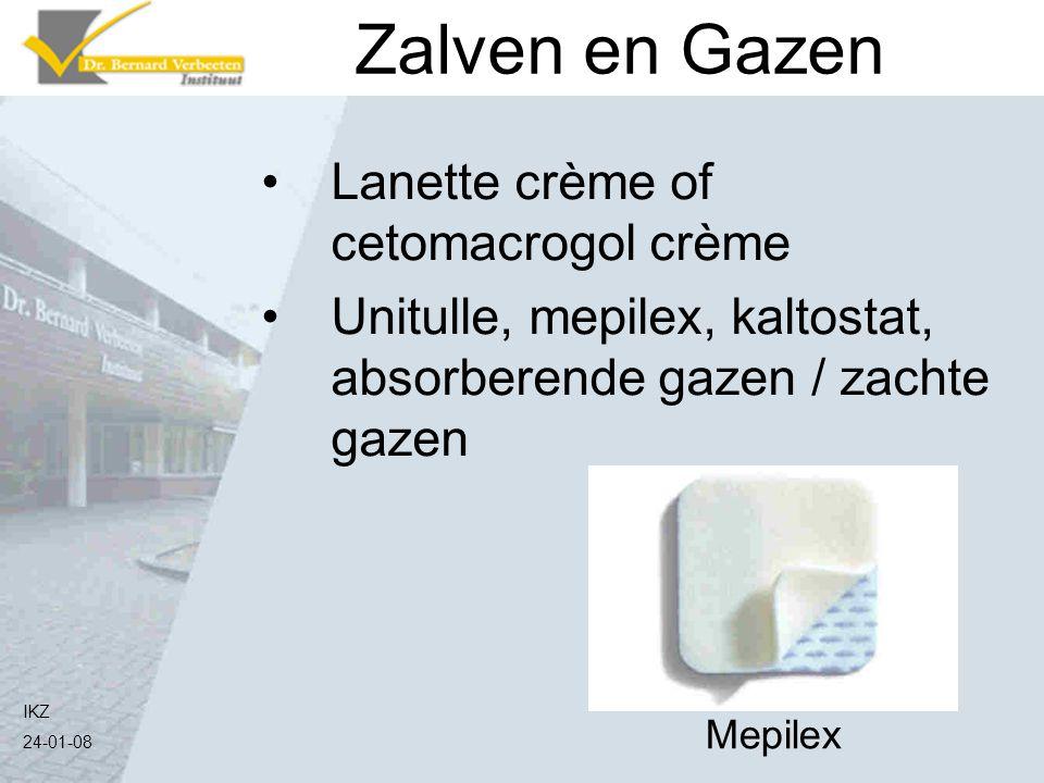 IKZ 24-01-08 Lanette crème of cetomacrogol crème Unitulle, mepilex, kaltostat, absorberende gazen / zachte gazen Zalven en Gazen Mepilex