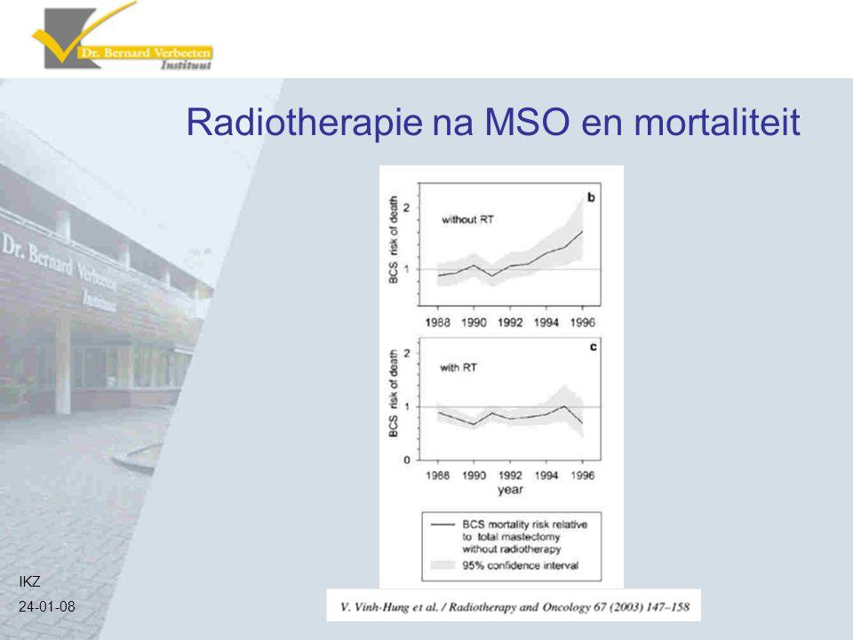 Radiotherapie na MSO en mortaliteit IKZ 24-01-08