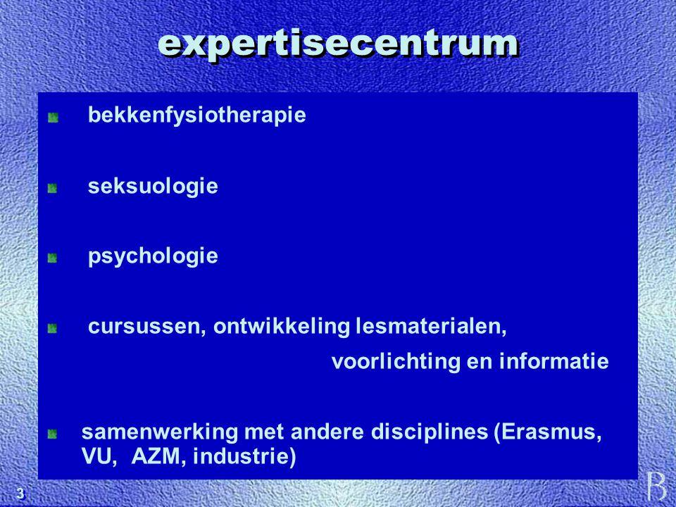 3 3 expertisecentrum bekkenfysiotherapie seksuologie psychologie cursussen, ontwikkeling lesmaterialen, voorlichting en informatie samenwerking met an