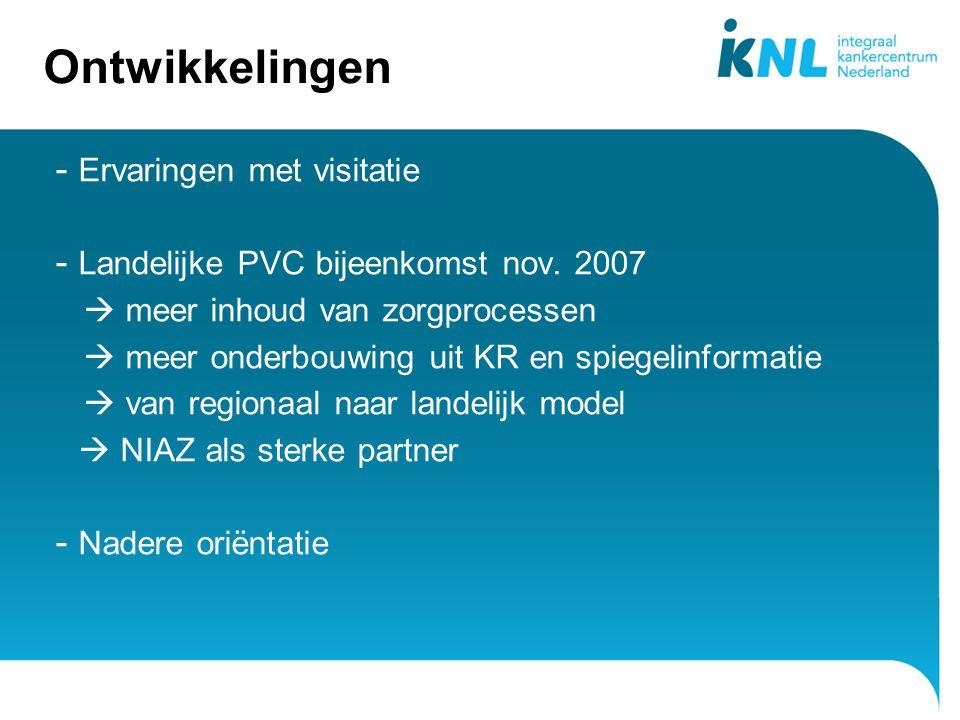 4 Ontwikkelingen - Ervaringen met visitatie - Landelijke PVC bijeenkomst nov.