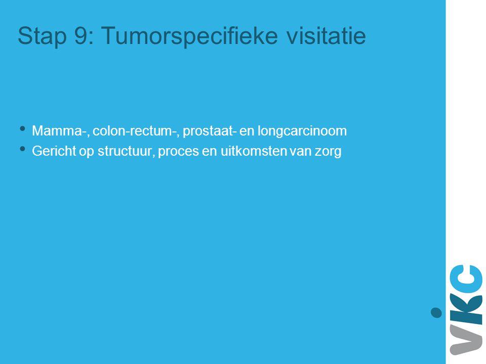 Stap 9: Tumorspecifieke visitatie Mamma-, colon-rectum-, prostaat- en longcarcinoom Gericht op structuur, proces en uitkomsten van zorg