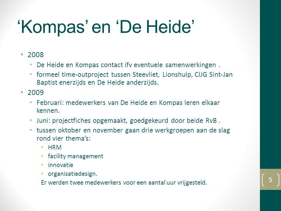 'Kompas' en 'De Heide' 2008 De Heide en Kompas contact ifv eventuele samenwerkingen. formeel time-outproject tussen Steevliet, Lionshulp, CIJG Sint-Ja