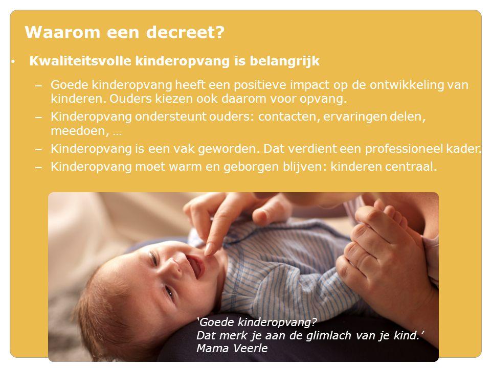 Subsidie voor inkomenstarief - Voorwaarden 220 openingsdagen van 11u tussen 6u en 20u – Overgang: 2014 en 2015: 9 uren Actieve kennis van Nederlands – attest (zelfde niveau als vergunning) Gebruik van Nederlands in werking door taalbeleid dat: – Nederlandse taalverwerving stimuleert – positieve aandacht biedt voor taal van kind in zijn thuismilieu 80% bezetting – Overgangsperiode: 70% 2014 75% 2015 Jaarlijks een begroting met raming van inkomsten en uitgaven Boekhouding die inkomsten en uitgaven voor kinderopvang transparant afzondert Versie 22 november 2013.