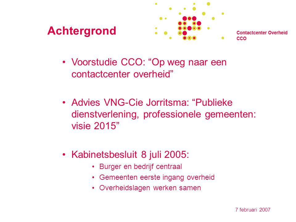 7 februari 2007 Netwerkorganisatie
