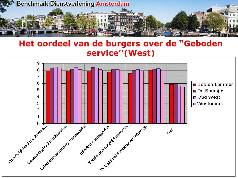 Het oordeel van de burgers over de Geboden service''(West)