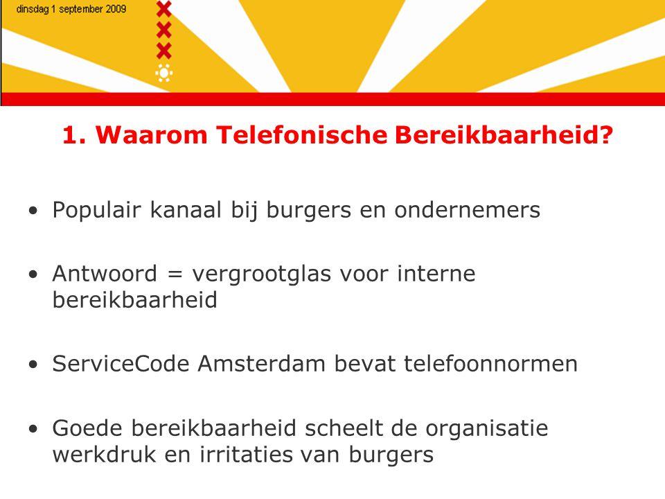1. Waarom Telefonische Bereikbaarheid.