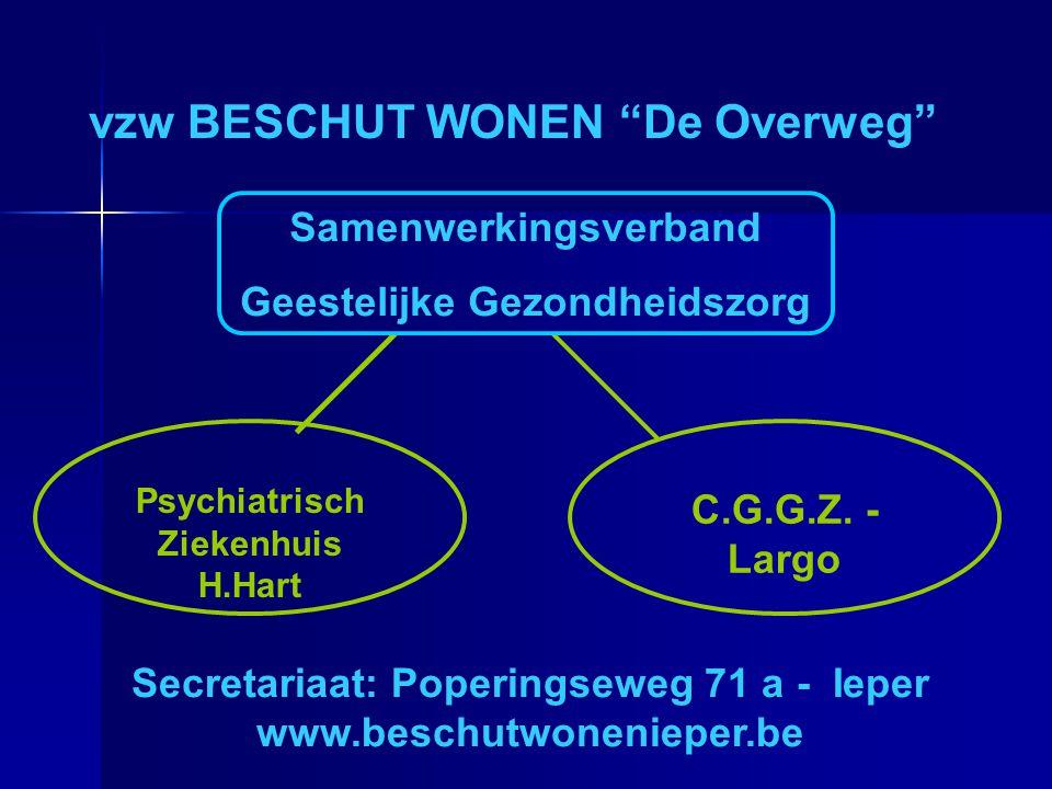 """Psychiatrisch Ziekenhuis H.Hart vzw BESCHUT WONEN """"De Overweg"""" Secretariaat: Poperingseweg 71 a - Ieper www.beschutwonenieper.be Samenwerkingsverband"""