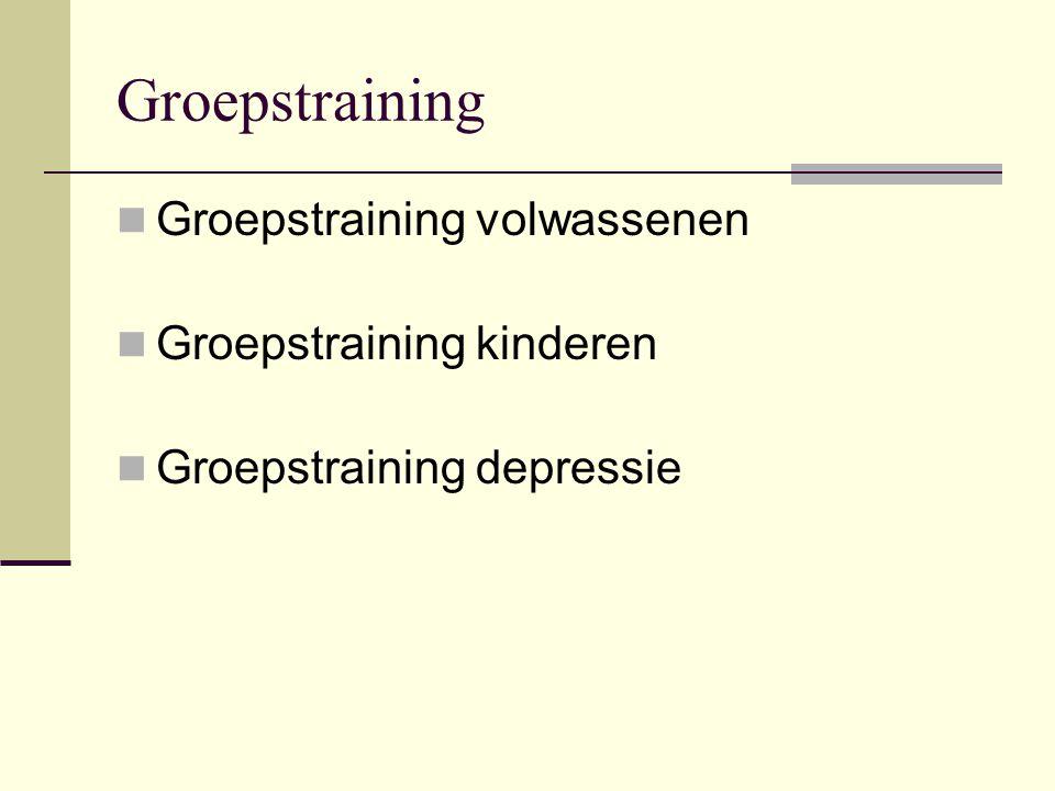 Groepstraining Groepstraining volwassenen Groepstraining kinderen Groepstraining depressie