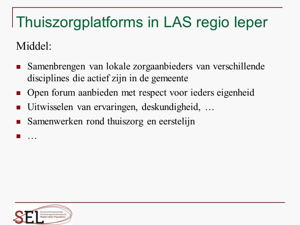 Thuiszorgplatforms in LAS regio Ieper Middel: Samenbrengen van lokale zorgaanbieders van verschillende disciplines die actief zijn in de gemeente Open
