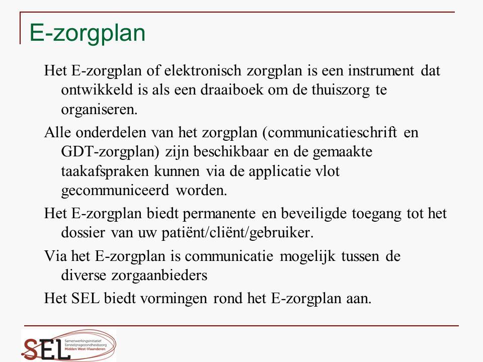 Het E-zorgplan of elektronisch zorgplan is een instrument dat ontwikkeld is als een draaiboek om de thuiszorg te organiseren. Alle onderdelen van het