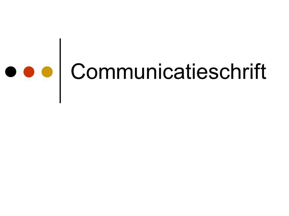 Communicatieschrift