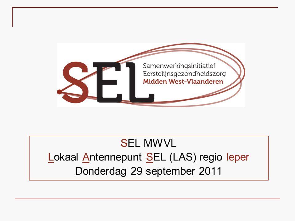 Voor meer informatie: SEL Midden West-Vlaanderen Coördinator: Ann Van Wanzeele Mandellaan 101 8800 Roeselare Tel.