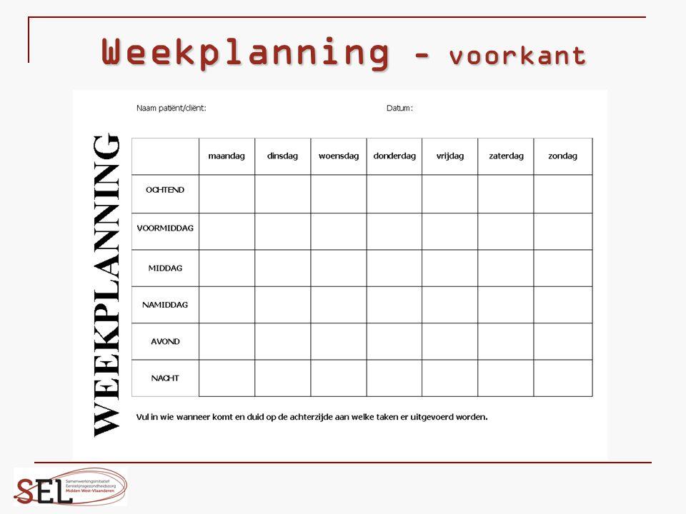 Weekplanning - voorkant