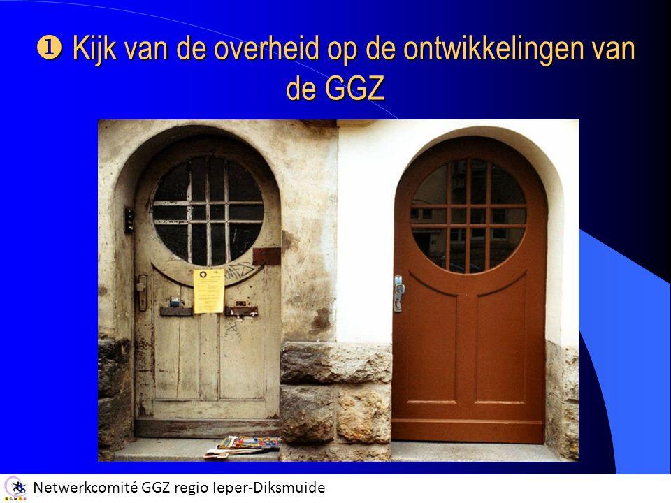 Netwerkcomité GGZ regio Ieper-Diksmuide  Kijk van de overheid op de ontwikkelingen van de GGZ