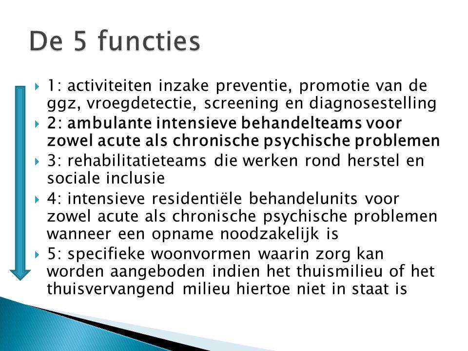 Ambulante intensieve behandelteams voor mensen met acute of subacute psychiatrische Problemen.