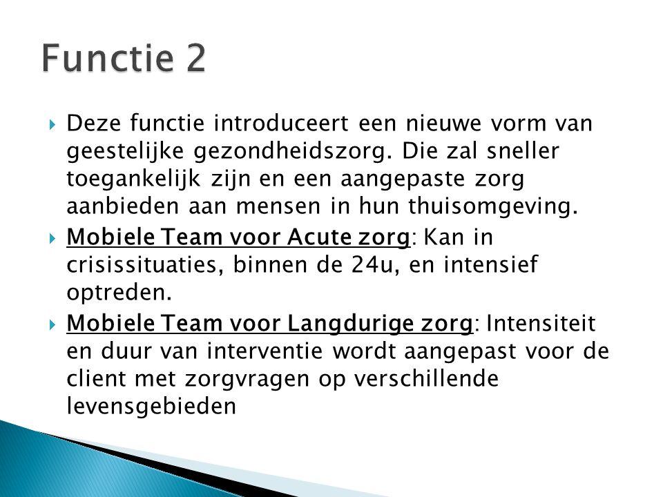  Aanmeldingsfase: <24u  Intakefase: dag 2-7  Interventiefase: week 2 tot 4  Afrondingsfase: laatste 2 weken