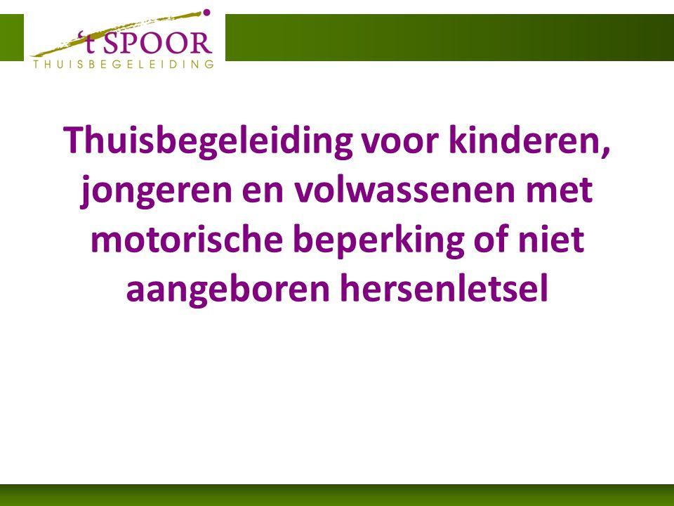 Thuisbegeleiding voor kinderen, jongeren en volwassenen met motorische beperking of niet aangeboren hersenletsel