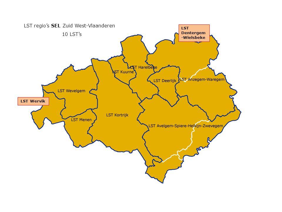 LST Wervik LST Dentergem -Wielsbeke LST regio's SEL Zuid West-Vlaanderen 10 LST's