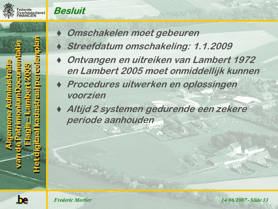 FederaleOverheidsdienstFINANCiËN Algemene Administratie van de PatrimoniumDocumentatie Flagis – Lambert 2005 Het digitaal kadastraal percelenplan Alge